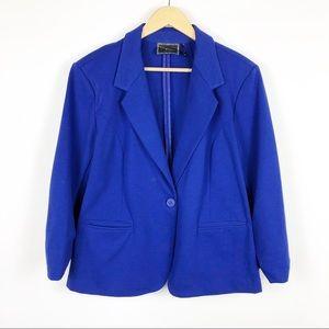 Christian Siriano Blue Blazer Size XXL
